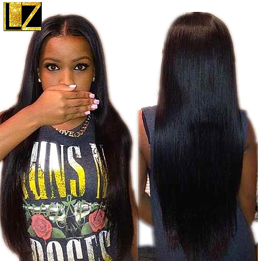 Hot Sale!! 7A Glueless Full Lace Human Hair Wigs Lace Front Wig Brazilian Virgin Hair Straight Wigs For Black Women(China (Mainland))