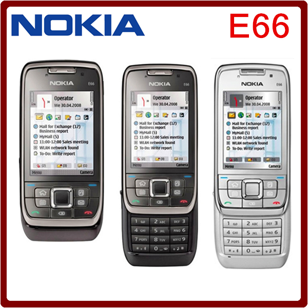 Original Nokia E66 Unlocked 3G Mobile Phone WIFI GPS Bluetooth Russian Keyboard Slider Phone in stock(China (Mainland))