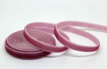 Handmade 1/4 inch 6mm 20yds/roll velvet ribbon, No elastic Single face nylon webbing free shipping(China (Mainland))