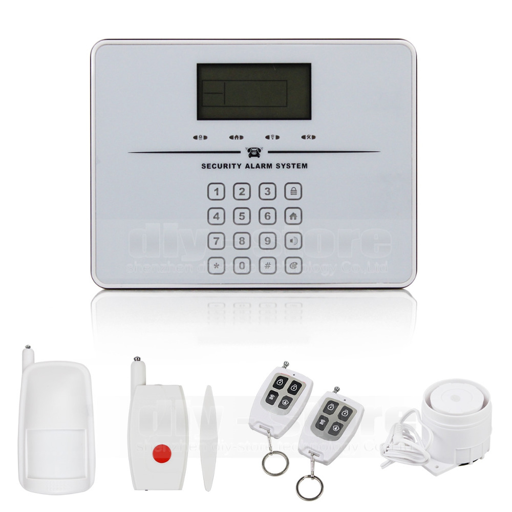 Touch Keypad Wireless GSM PSTN Intercom Mornitor House Intruder Alarm System Voice Prompt(China (Mainland))