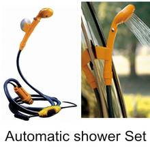 2015 12 Volt Dc Camping Shower set Outdoor Gear Kit Car washing camp showers Auto shower pressure showers free shipping(China (Mainland))