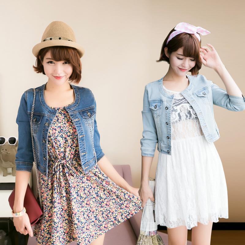 New 2015 Ladies Denim Jackets Outwear Jeans Coat Classical Jackets Women Fashion Jeans Coats Rivets Female Jackets(China (Mainland))