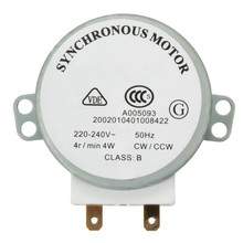1pcs AC 220V-240V 50Hz CW/CCW Microwave Turntable Turn Table Synchronous Motor TYJ50-8A7 D Shaft 4 RPM(China (Mainland))