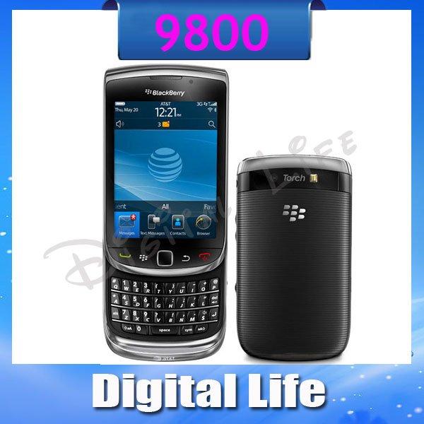 9800 Original BlackBerry Torch 9800 3G GPS  Wifi Unlocked Cell Phone