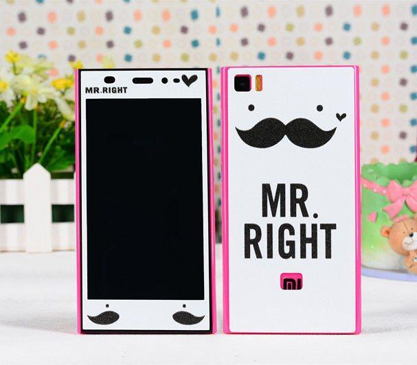 Mr. right 6 items Xiaomi mi3 screen protector mi 3 mobile phone cell sticker skin cover kawaii cartoon print decor film - Decor Union Store store