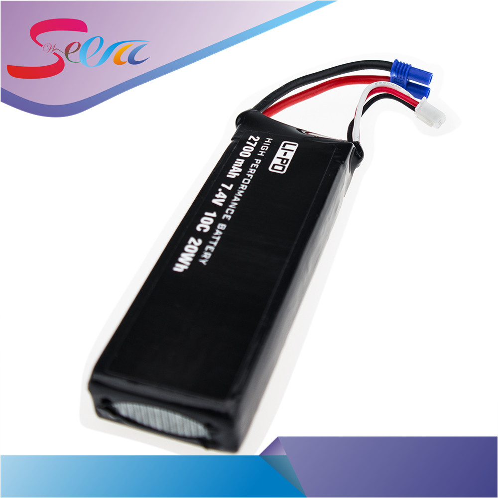 H501S lipo battery 7.4V 2700mAh 10C Batteies 3pcs for Hubsan H501C rc Quadcopter Airplane drone Spare Parts