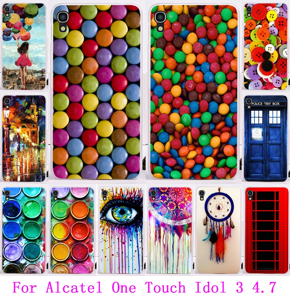 """Luxury Dream Catcher Telephone Booth Painted Phone Case For Alcatel OneTouch Idol 3 6039 4.7"""" Housing Cover Skin Shell Hood Bags(China (Mainland))"""