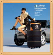 Free shipping 2016 Hot sale waterproof oxford folding luggage,Large Capacity suitcase,Caster folding box(China (Mainland))
