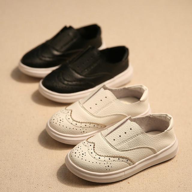 Новые 2016 детей обуви мальчики детская обувь высокое качество натуральной кожи обувь черный, Белый британский стиль плоские кроссовки 26 - 36