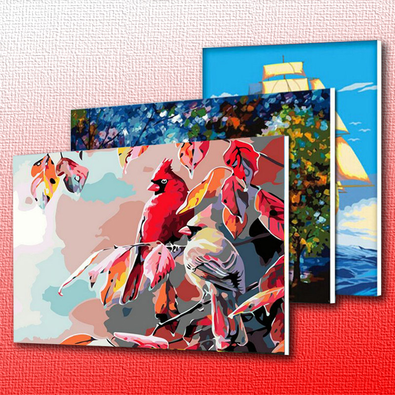 NEW DIY Coloring by Numbers Digital Oil Painting With frame Wall Art Canvas Pattern Home Decor White Horse Animals 5168 40*50cm