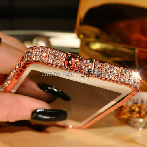 Luxury fashion Style Snake Diamond Inlay Metal rhinestone Bumper bling bumper Frame case cover iphone 6 Plus 6S 5 5s capa - MagicBuying store