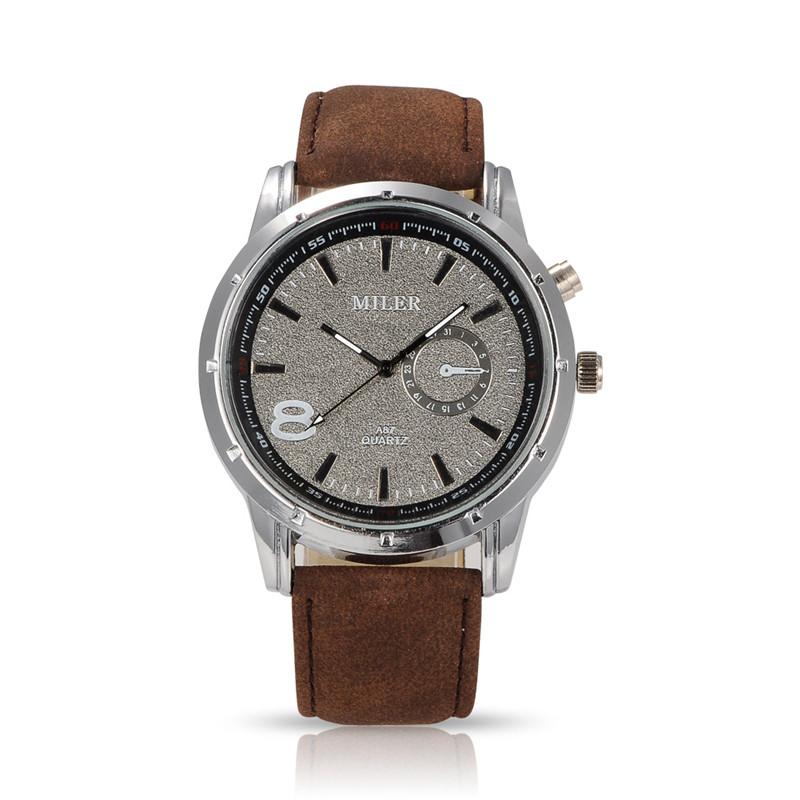 Men Casual Watch Miler Brand Fashion Wristwatch Luxury Quartz Watch Cool Male Leather Strap Relogio Relojes Hours Masculino <br><br>Aliexpress