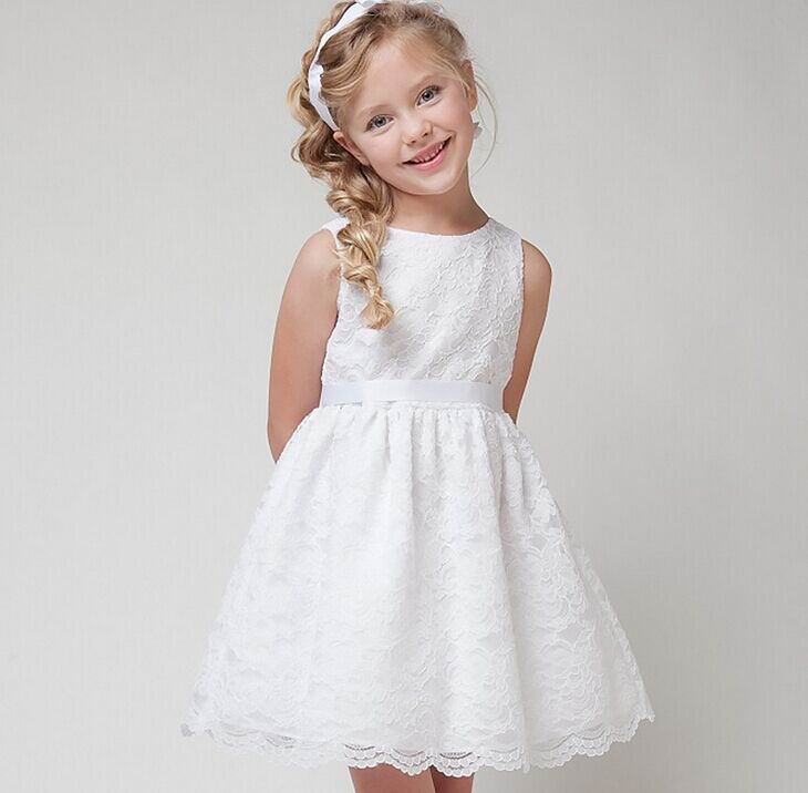 2016 Summer New Girl Dress Lace Party Sundress font b Family b font font b Matching
