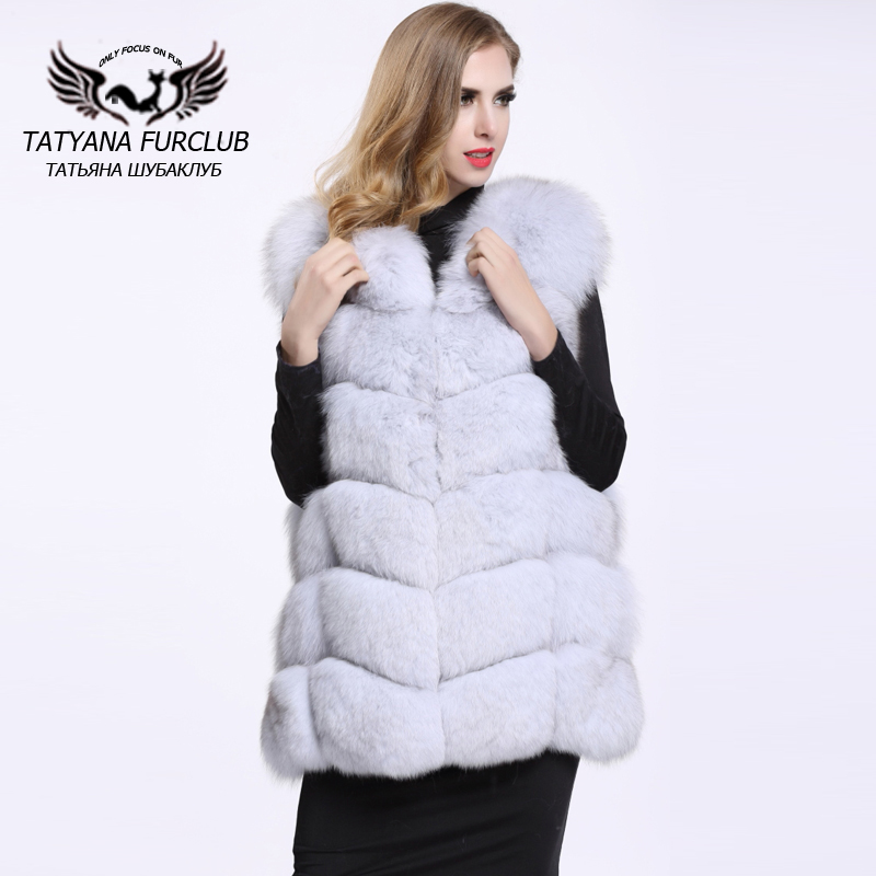 Long Style 100% Genuine White Fox Fur Vest Natural Blue Fox Fur Waistcoat Lady Luxury Thick Coat Fashion Outwear Coat BF-V0061(China (Mainland))