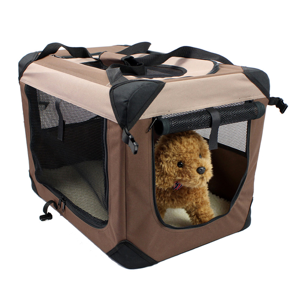 Portable Folding Pet Carrier Dog Cat Crate Cage Soft Travel Tote Kennel House Medium size 60*42*42cm(China (Mainland))