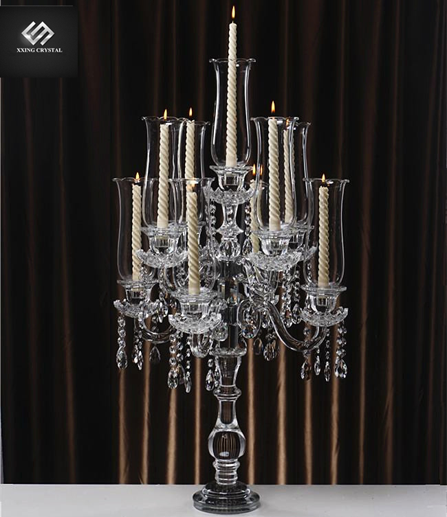 Fashion europe tall wedding candlestick crystal