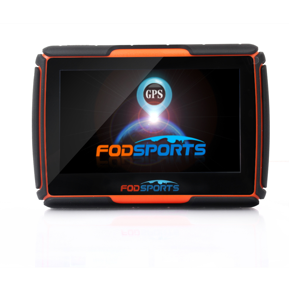 2017 New 256M + 8GB + FM! FODSPORTS Brand 4.3 Inch Waterproof IPX7 Bluetooth GPS Navigator for Motorcycle Installed Maps