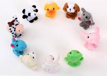 Free Shipping 10pcs/lot Baby Plush Toy,Finger Puppets,Talking Props,finger doll,baby dolls,Baby Toys,Animal doll,Cartoon(China (Mainland))