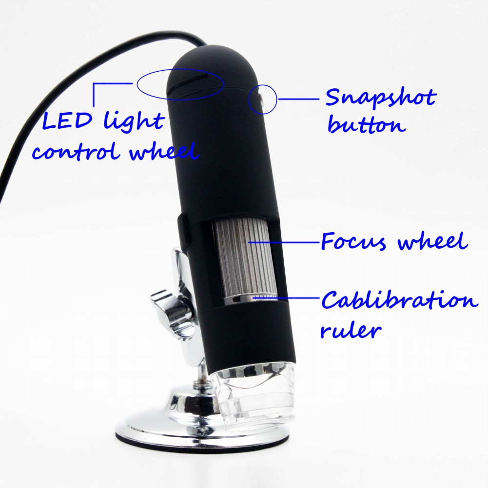 1PC FREE SHIPPING 20X-400X 2.0 Mega Pixels 8 LED Light USB Digital Microscope  Magnifier Video Camera Video  #EC101<br><br>Aliexpress