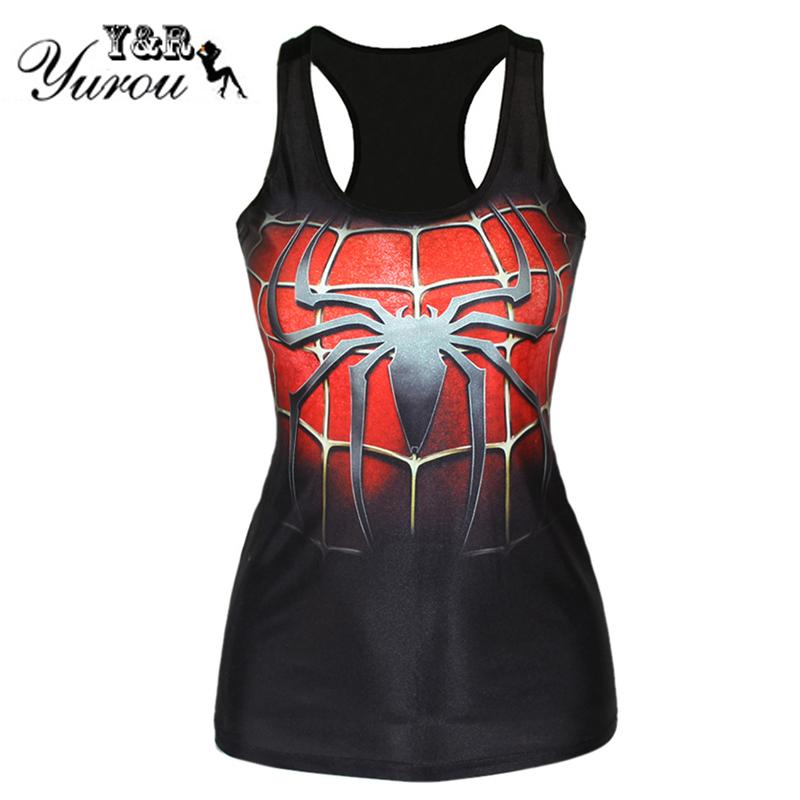 Free Shipping casual Tank Top Women digital 3D Print batman spiderman superman ice and fire woman fashion sleeveless Vest Tops(China (Mainland))