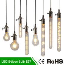 Buy LED Candle Light E14 E27 Filament Light Glass Lamp G80 G95 ST64 220V 2W 4W 6W Bulb Antique Retro Vintage Edison Led Bulb Lamps for $1.43 in AliExpress store