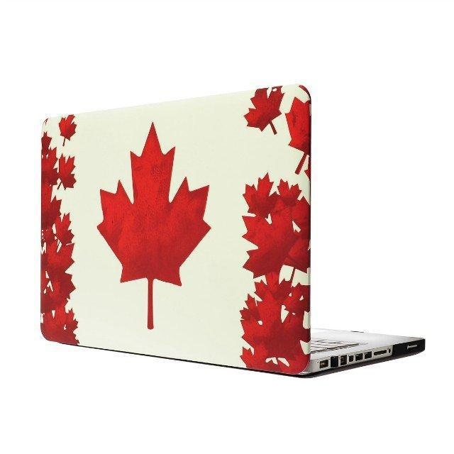 Newest Ultra-thin Maple Leaf Pattern Protective case For Apple Laptop macbook 11/Air 13/Pro 13/Pro 15 New Pro Retina 13 15 Case(China (Mainland))