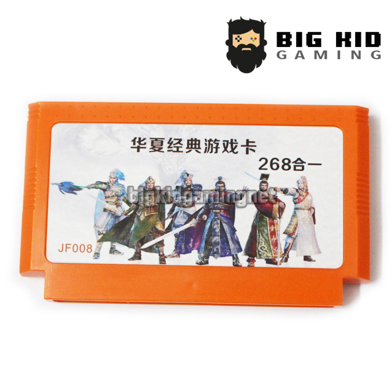 268 1 Game Collection 60 Pin Game Card 8 Bit Game Player