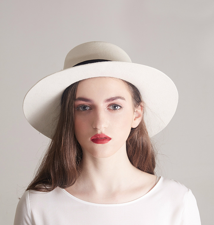 white boater hats for flat top 100 wool felt fedora