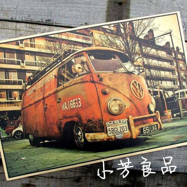 vintage tin signs VW bus retro iron painting vintage car tin plate bar antique wall decoration posters 42*30cm(China (Mainland))