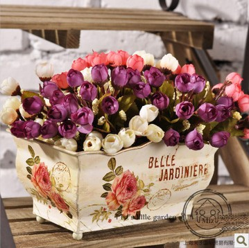 Rustic home decoration silk flower artificial flowers single 15 mini - newlly liu's store