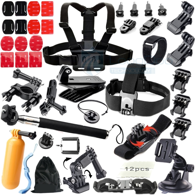 Go pro Accessories Bike Mount Floating Bobber Tripod stick Monopod Hand Head Chest Strap Adapter For Gopro Hero 4 3+ 2 GS08<br><br>Aliexpress