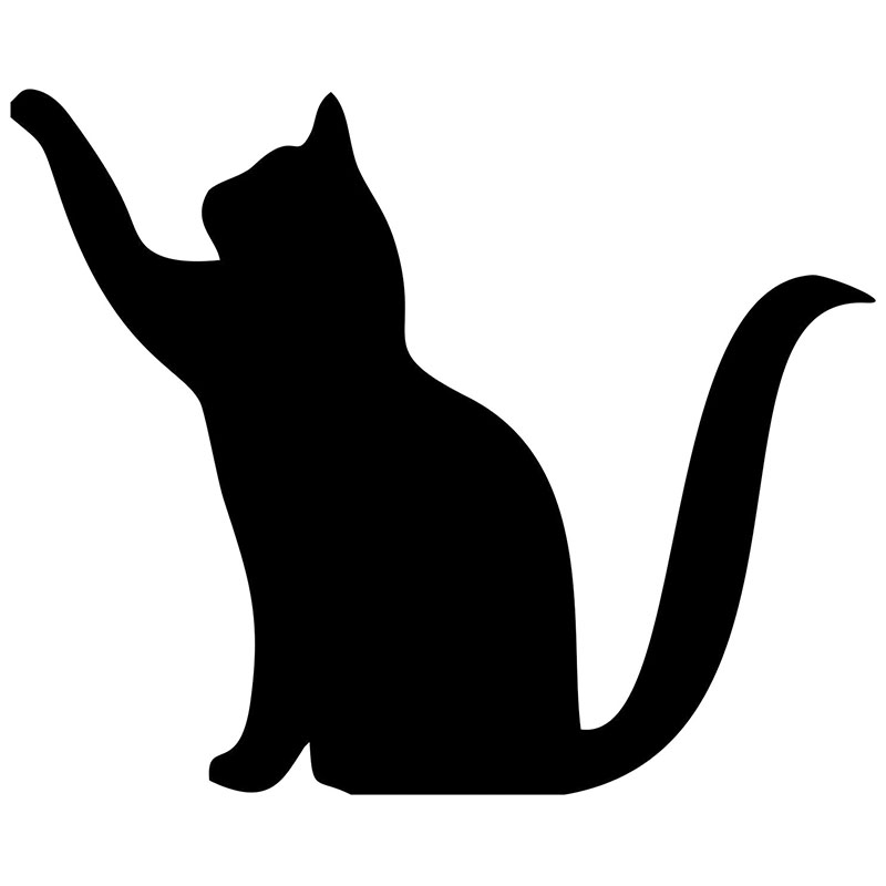Factory outlets Cute Cat Reaching Flighty Car Sticker For Truck Window Bumper Auto Door Kayak Motorcycles Vinyl Decal 9 Colors(China (Mainland))