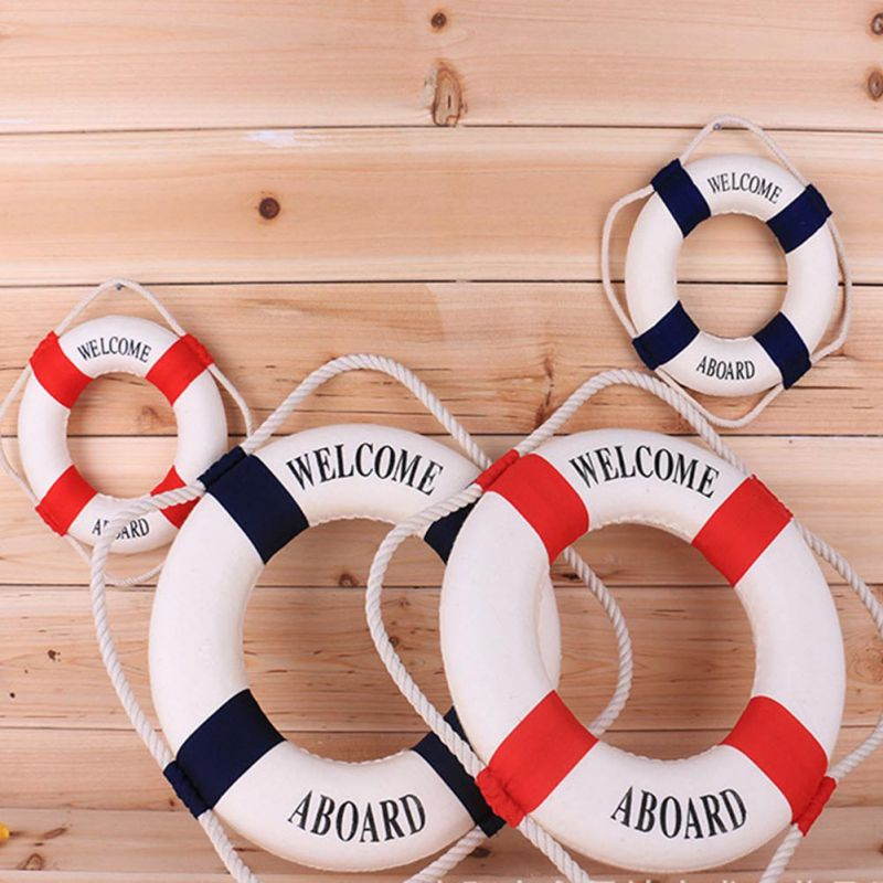 3 Sizes Navy Style Lifebuoy Nautical Aboard Sign In Home Decor Decorative Life Ring Room Bar Home Decoration Free shipping(China (Mainland))