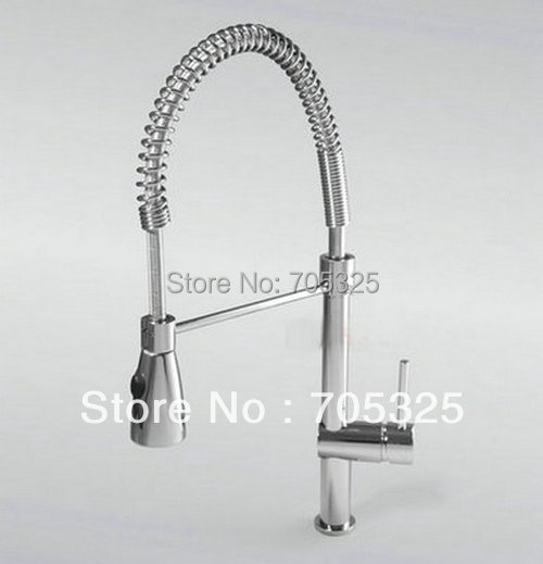 New single Handle Pull Up&Down Kitchen Mixer Tap Sprayer&Stream out Nickel Brushed Faucet Z330(China (Mainland))