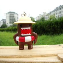 8pcs/Set Anime Domo-Kun Figures Toy Kawaii Cartoon Key Pendant for Bag/Phone Kawaii Cartoon Keyring Domo Kun Toys