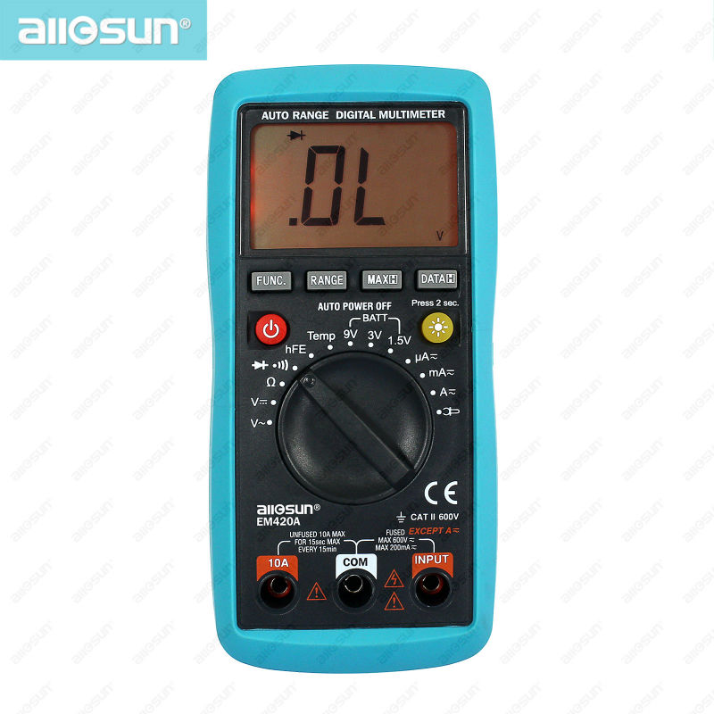 ALL-SUN EM420A digital multimeter+EM263 current probe clamp inductor continuity diode transistor battery tester input 600A-MAX <br><br>Aliexpress