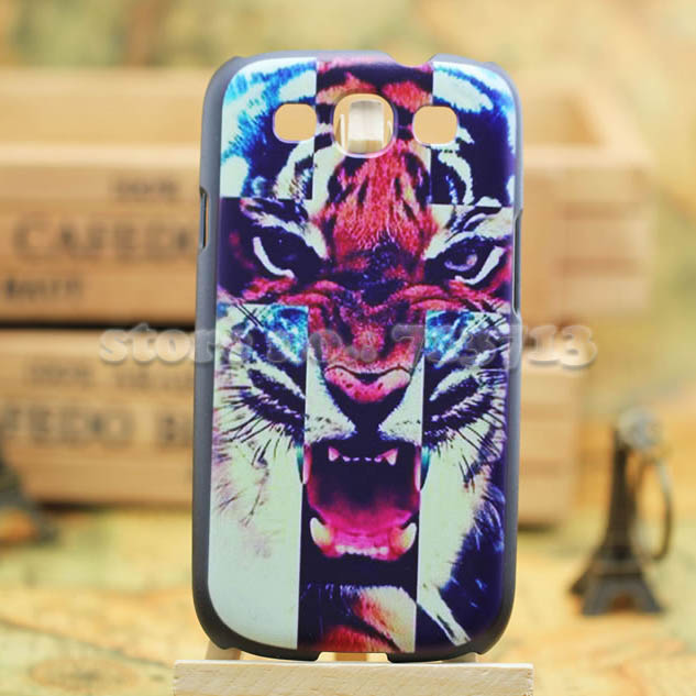 Tiger Lion Elephant Luxury Hard Case Samsung Galaxy S3 Back Cover 9300 hard Cases s - Cool Phone Factory store