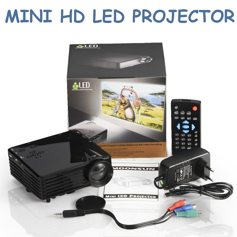 Mini hd led projector with hdmi sd av vga usb tv port h100 for Mini hd projector