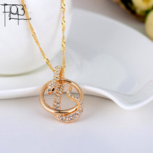 2015 New Arrivals18K Gold Plated Rhinestone Pendant Necklace Fashion Jewelry Crystal Snake Pendants Women Lady