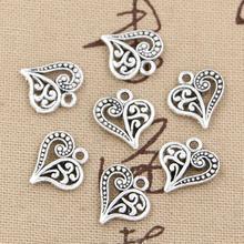 30pcs Charms hollow lovely heart 15*14mm Antique,Zinc alloy pendant fit,Vintage Tibetan Silver,DIY for bracelet necklace(China (Mainland))