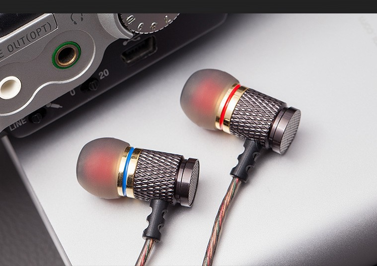 KZ-ED2 Earphones Enthusiast bass In-Ear Earphone Copper Forging 7MM Shocking Anti-noise Microphone Sound Quality fone de ouvido