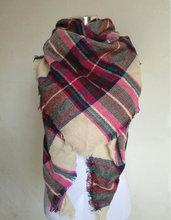 Buy Za Winter Scarf Tartan Plaid Cashmere Scarf Pashmina New Designer Blanket Scarf Luxury Brand Triangle Women's Scarves Wraps for $5.08 in AliExpress store