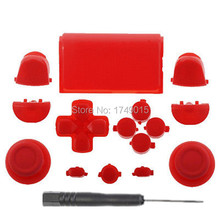 GameMod High Quality Solid Red Thumbstick R2 L2 R1 L1 Trigger buttons for SONY Dualshock 4 PS4 Wireless Controller Accessories