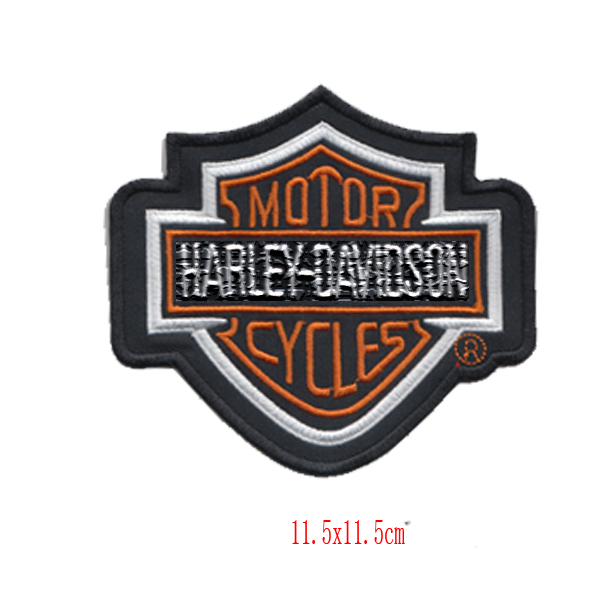 11.5*11.5cm motorcycles biker harley embroidery patches for clothing sport hot cut Iron on accessories free shipping(China (Mainland))