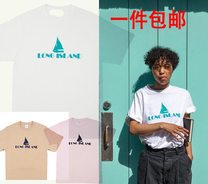 Custom Tide brand in Europe and America noha long islnad tee Limited sailboat logo short sleeve tee summer fashion trend of men(China (Mainland))