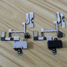 Volume Button Flex Cable For iPhone 4 4G Audio Jack headphone Earphone Mute Silent Switch free shipping 10pcs/lot