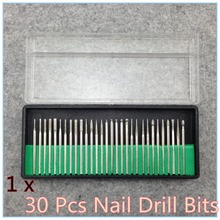 30PCS/set Drill Bits Kits Nail Drill Set Shank 3/32″ Manicure and Pedicure Dropshipping + Free shipping