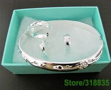 GY-PT256 Free shipping silver sets wholesale fashion jewelry sets as picture ( bracelet necklace earring ring ) asya jkfa sboa(China (Mainland))