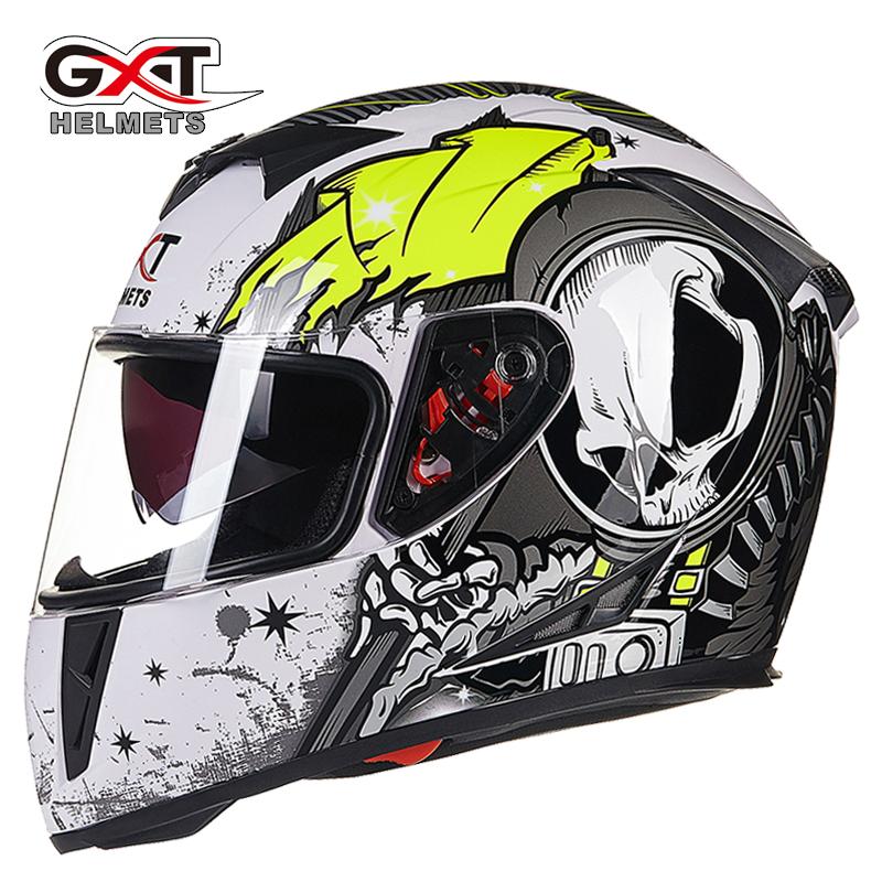 GXT 358 anti-fog dual lens full face helemt capacete cascos motorcycle helmet motoqueiro electric car Safety helmets ECE helmet(China (Mainland))
