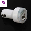 Universal Circuit Breaker Protection White Double Dual USB Auto Car Travel Power Chargers Adapter for iPhone4